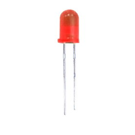 10er-Pack, LED, 5mm, diffus, 20mA, 200mcd, rot
