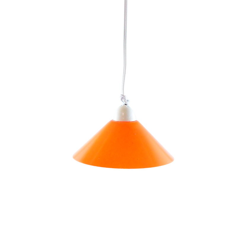 Krippen-/Puppenstuben LED-Hängelampe, 42mm, orange, Kabel/Stecker, 3,5V