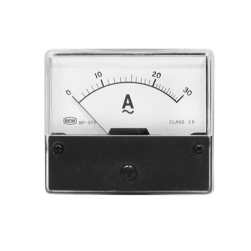 Einbaumessinstrument, analog, 70x60mm, Amperemeter 30A/AC