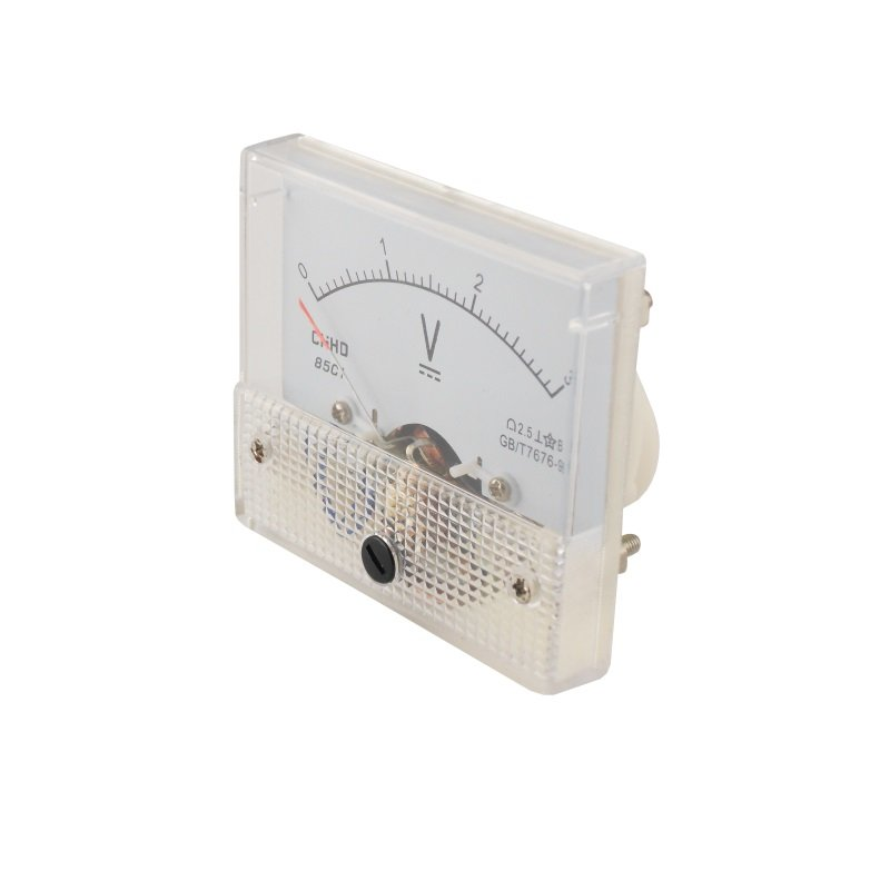 Einbaumessinstrument, analog, 64x56mm, Voltmeter 250V/DC