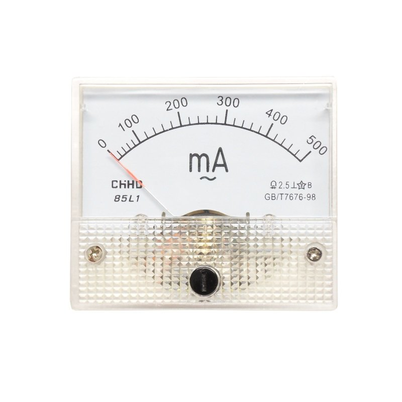 Einbaumessinstrument, analog, 64x56mm, Amperemeter 100µA/DC