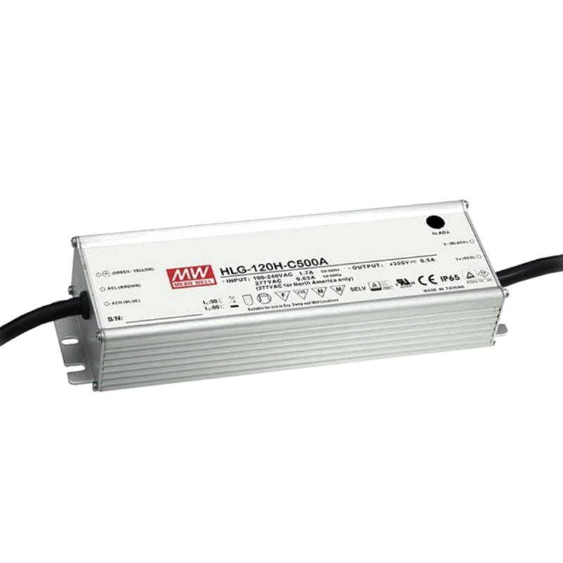 MEAN WELL HLG-120H-C1050A LED-Treiber, IP65, 155W, 74-148V, 1050mA, CC