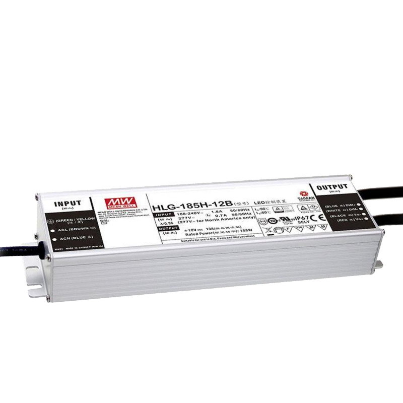 MEAN WELL HLG-185H-C1400A LED-Treiber, IP65, 200W, 71-143V, 1400mA, CC