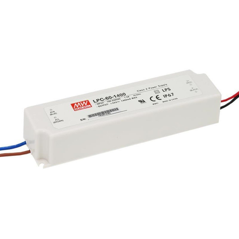 MEAN WELL LPC-60-1050 LED-Treiber, 9-48V, 1050mA, CC