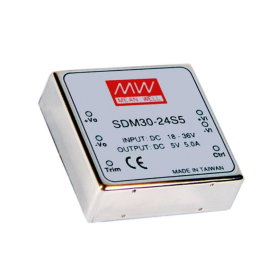 MEAN WELL SDM30-12S15 DC/DC Wandler, 9-18V:+15V, 1,7A, 25W