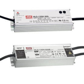 MEAN WELL Serie HLG-120H, 120W LED-Treiber CV/CC, IP67/IP65