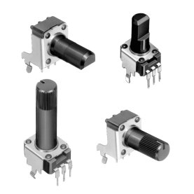 Potentiometer ALPS Serie RK09K/RK09D, 9mm, Printmontage