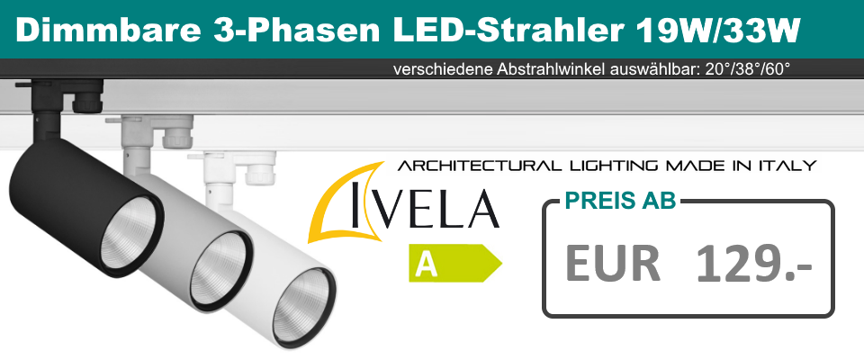 Dimmbare 3-Phasen LED-Strahler PERFETTO 230